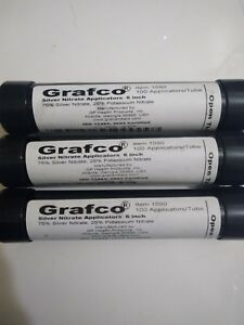 3 Packs Of Silver Nitrate Double Dipped 6 Applicator Sticks 100 pack New Grafco