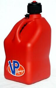 Vp Racing Red 5 Gallon Square Fuel Jug With Hose Gas Can Jerry Can Scca Imca Ump