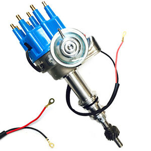 For Ford V8 260 289 302 Engine Igniton Distributor Small Block Hei Blue Cap