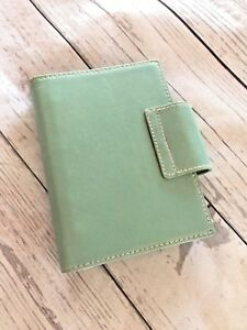 Vintage Kate Spade Leather Small 6 Ring Binder Planner Agenda
