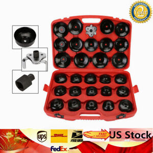 30pcs Cap Type Oil Filter Wrench Set Socket Tools For Ford Bmw Mercedes Audi Wix