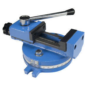 Erie Tools 55 Mm Mill Vice With Adjustable Screw And Quick Clamp For Mini Mill