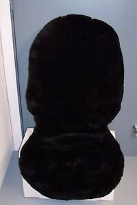 Double Cap Sheepskin Seat Covers low Back one Pair black Beige And Gray