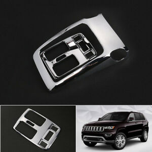 Chrome Rear Armrest Air Vent Outlet Cover Trim For Jeep Grand Cherokee 2014 2018