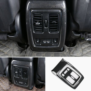 Carbon Fiber Style Armrest Outlet Cover Trim For Jeep Grand Cherokee 2014 2018