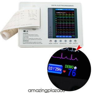 Pro 12 lead 3 channel Electrocardiograph Ecg ekg Machine Interpretation 2018