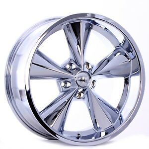 Boyds Junk Yard Dog Wheels Chrome 17x7 17x8 Suit Older Chevy s With Tires Lugs
