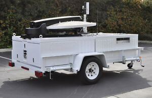 Emergency Utility 4 5 W X 9 L Trailer With Antenna And Comms Equipment