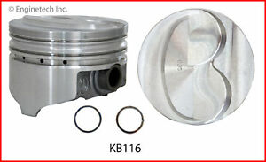 Enginetech Kb116 8 030 Piston Kb Ford 302 Hyper 200 Dome 5 090 Rod