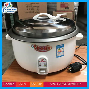 55 Cup Commercial Rice Cooker And Warmer 220v New Cooler Depot