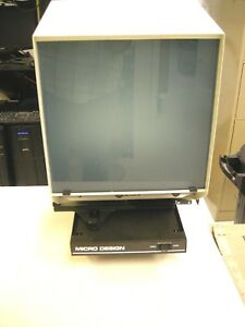 Consolidated Micrographics Microfiche Reader 935 Working Film Viewer
