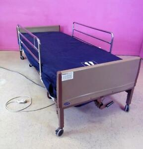 Invacare Electric Adjustable Hospital Bed W Side Rails New Mattress Cover