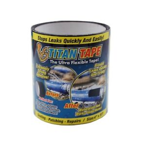 6 Pack Titan Tape Rubberized Waterproof Tape Stops Leaks Quickly