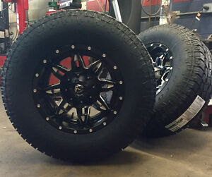 5 17 Fuel D567 Lethal Black Wheels Jeep Wrangler Jk 33 Toyo At Tires Package