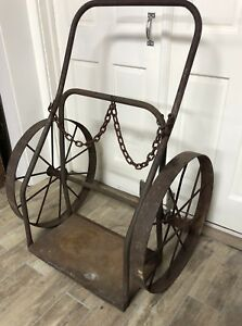 Vintage Welding Cart Hand Truck Dolly Industrial 44 x32