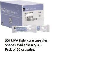 Sdi Riva Light Cure Glass Ionomer Capsules Dental Filling Material Shade A2 a3