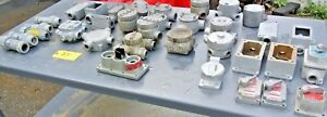 Lot Of Hazardous Location Electrical Conduit Boxes switches A b appleton Cheap