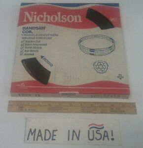 Nicholson Brand Steel Bandsaw Stock 1 4 X 025 32 Tpi Wavy Hard Back 100 Coil