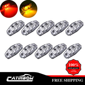 10pcs Clear Amber Red Clearance Side Marker Light 2 5 Led Truck Trailer Signal