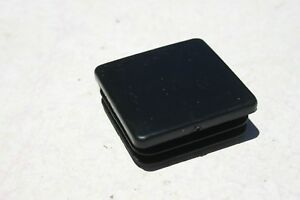 2 Square Plastic Tubbing Cap Black Abs Chair Glide Insert Plug Various Size Lot