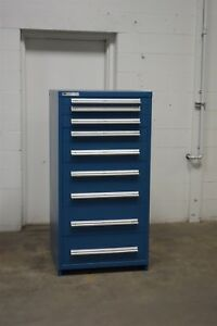 Used Vidmar 9 Drawer Cabinet Industrial Tool Storage Bin 1547