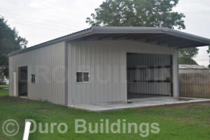 Durobeam Steel 30x40x14 Metal Building With 10 Self Supporting Canopy Direct