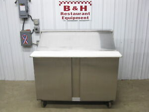 Traulsen 48 2 Door Stainless 4 Refrigerated Mega Top Prep Table Upt4818 lr