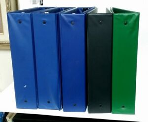 Office Depot Blue 3 ring Binder 2 Ring Lot Of 8 Binders Used Lot Black Green