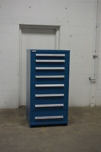 Used Stanley Vidmar 8 Drawer Cabinet Industrial Tool Parts Storage 709