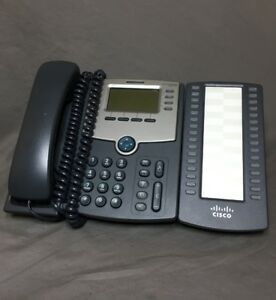 Cisco Spa514g Phone 4 line Voip Business Telephone Ip Phone W Spa500s 32 Button