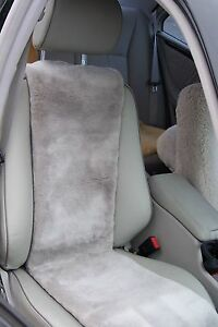 Sheepskin Seat Covers inserts high Quality black Or Grey one Pair