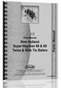 New Holland Super 68 Baler Parts Manual Catalog