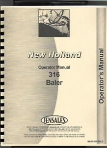 New Holland 316 Square Baler Operators Owners Manual