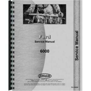 Ford 6000 Commander Tractor Service Shop Manual