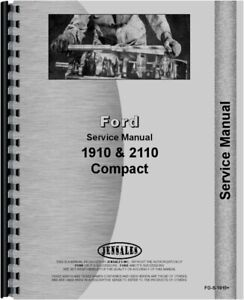 Ford 1910 2110 Compact Diesel 2 4wd Tractor Service Shop Manual