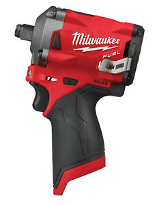 Milwaukee M12 Fuel 1 2 Dr Stubby Impact Wrench 250 Ft Lbs Bare Tool 2555 20