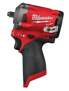 Milwaukee M12 Fuel 3 8 Dr Stubby Impact Wrench 250 Ft Lbs Bare Tool 2554 20