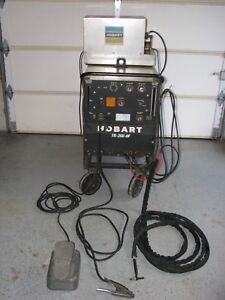 Hobart Tr 250 hf Tig Welder On Cart With Liquid Torch Cooler