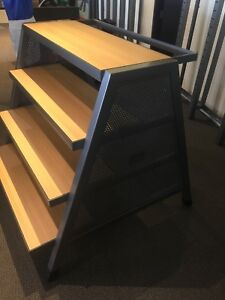 Great Under Armour 4 tier Metal And Wood Shelving Garment Rack Combo Unit