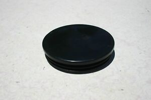 3 Round Plastic Tubbing Cap Black Abs Chair Glide Insert Plug Various Size Lot