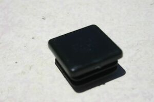 1 Square Plastic Tubbing Cap Black Abs Chair Glide Insert Plug Various Size Lot