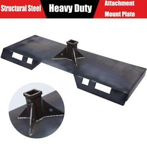 Skidsteer Trailer Receiver Tach Attachment Mount Plate Hitch Bobcat Skid Steer