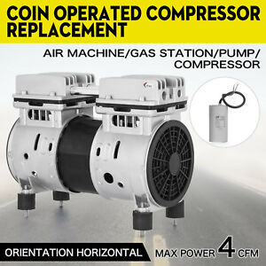 Coin Operated Compressor Air Machine Gas Station Duty Continuous Use 50 150psi