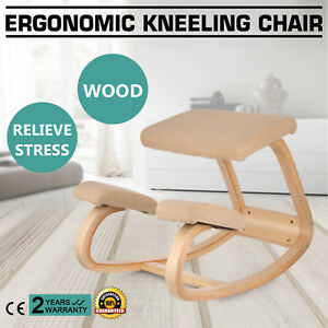 Adjustable Bentwood Ergonomic Kneeling Chair Thick Wood Frame Balance Body