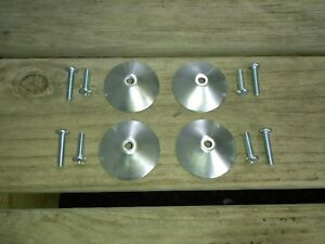 4 New Mounting Hardware Plates Cups For Cragar Weld Star Wire Wheels Center Caps