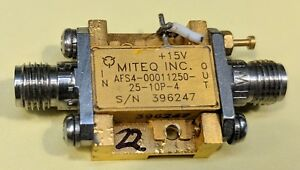 Miteq Afs4 00011250 25 10p Lna 13 Ghz Amplifier Tested Guaranteed a22