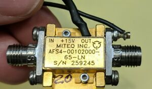 Miteq Afs4 00102000 65 Lna 20 Ghz Amplifier Tested Guaranteed a20