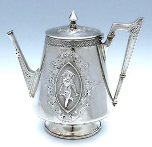 John Wendt Apollo Sterling Tea Pot Figural Putti