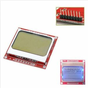 84x48 Nokia Lcd Module Blue Backlight Adapter Pcb Nokia 5110 Lcd For Arduino