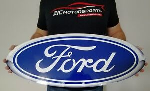 Ford Blue Oval Heavy Duty Steel Metal Sign Ford Licensed Large